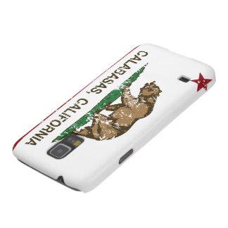 calabasas de la bandera de California apenados Funda De Galaxy S5