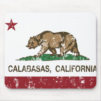 calabasas de la bandera de California apenados Alfombrilla De Ratones