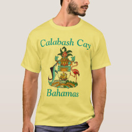 Calabash Cay, Bahamas with Coat of Arms T-Shirt