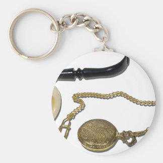 CalabashPipePocketWatch102410 Key Chains