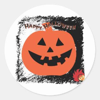 Calabaza 6 de Halloween Pegatina Redonda