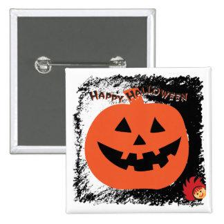 Calabaza 6 de Halloween Pin Cuadrado