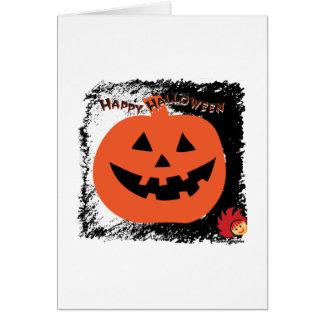 Calabaza 6 de Halloween Tarjeta Pequeña