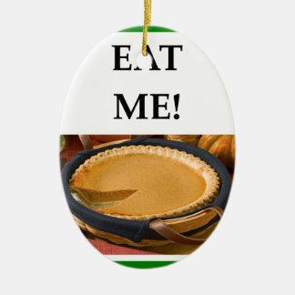 calabaza adorno navideño ovalado de cerámica