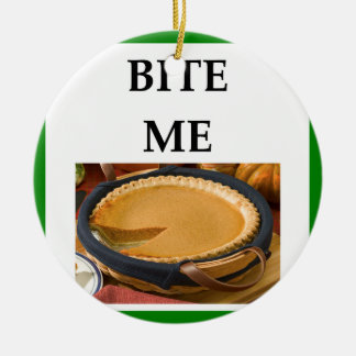calabaza adorno navideño redondo de cerámica