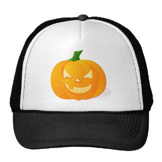 Calabaza anaranjada de Halloween Gorra