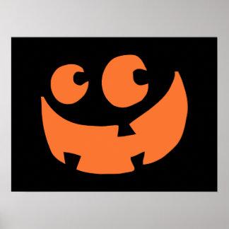 Calabaza anaranjada del feliz Halloween Impresiones