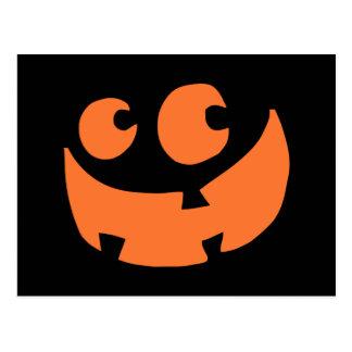 Calabaza anaranjada del feliz Halloween Postal