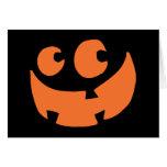 Calabaza anaranjada del feliz Halloween Felicitación