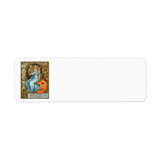 Calabaza Apple de la linterna de Jack O de los par Etiquetas De Remite