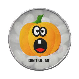 Calabaza asustada de Halloween Frascos De Caramelos