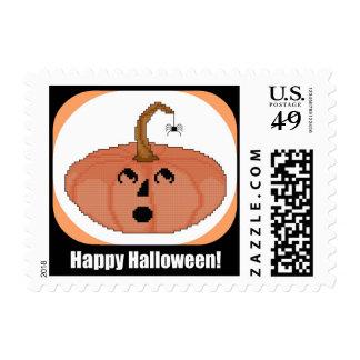 Calabaza asustada feliz Halloween Franqueo