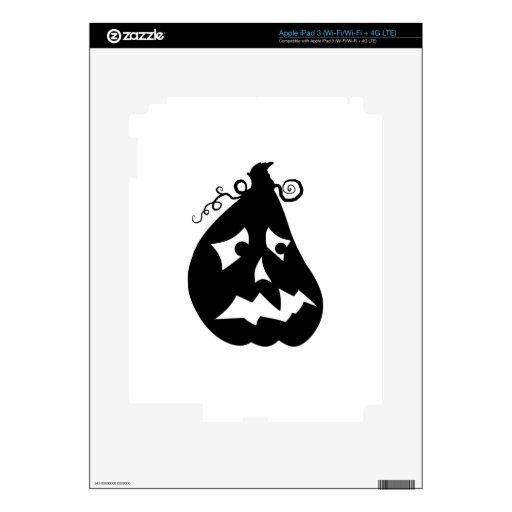 Calabaza asustada pegatinas skins para iPad 3
