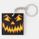 Calabaza asustadiza de Halloween Llavero