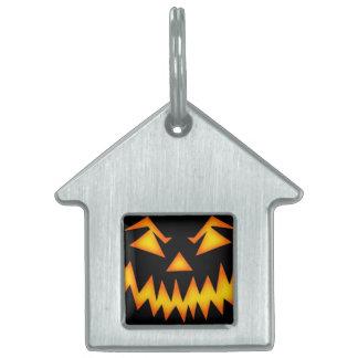 Calabaza asustadiza de Halloween Placa Mascota