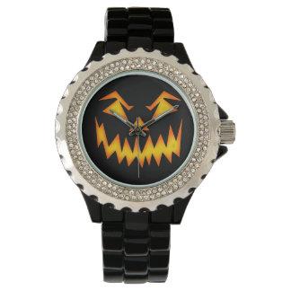 Calabaza asustadiza de Halloween Reloj De Mano
