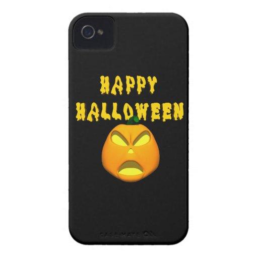calabaza asustadiza del feliz Halloween iPhone 4 Cobertura