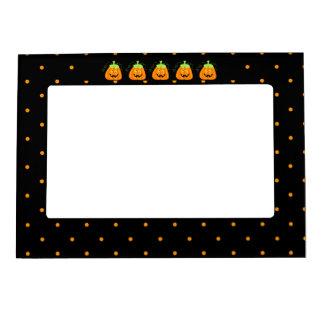 Calabaza banal de Halloween en negro Marcos Magneticos