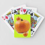 calabaza barajas de cartas