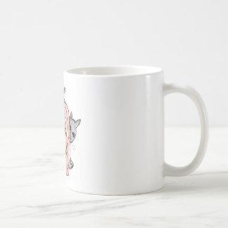 calabaza con el gato negro taza de café