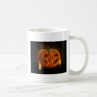 Calabaza con las velas - taza de Halloween