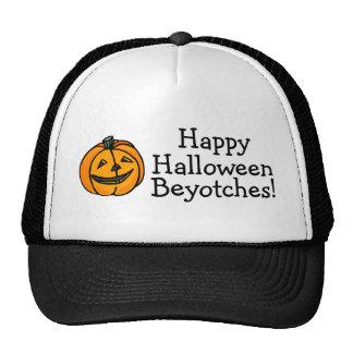 Calabaza de Beyotches del feliz Halloween Gorros Bordados