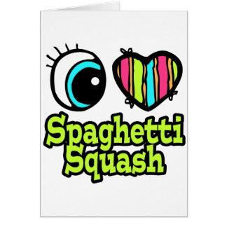 Calabaza de espaguetis brillante del amor del tarjeta de felicitación