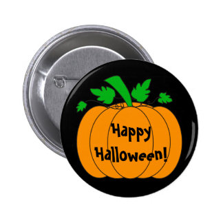 Calabaza de Halloween - botón Pins