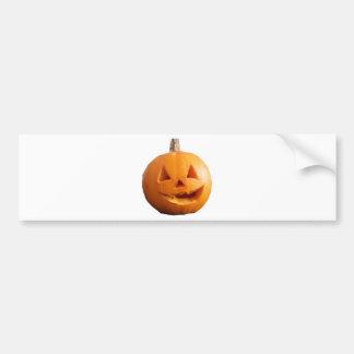 Calabaza de Halloween Etiqueta De Parachoque