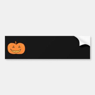 Calabaza de Halloween con mueca Etiqueta De Parachoque