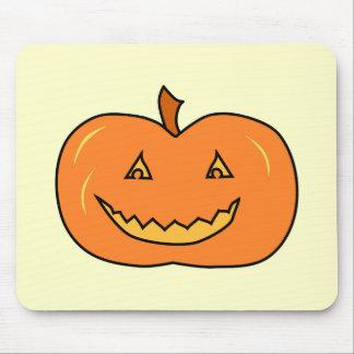 Calabaza de Halloween con mueca Tapete De Raton