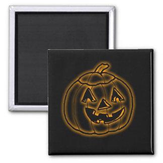 Calabaza de Halloween de la linterna de Jack que b Iman De Frigorífico