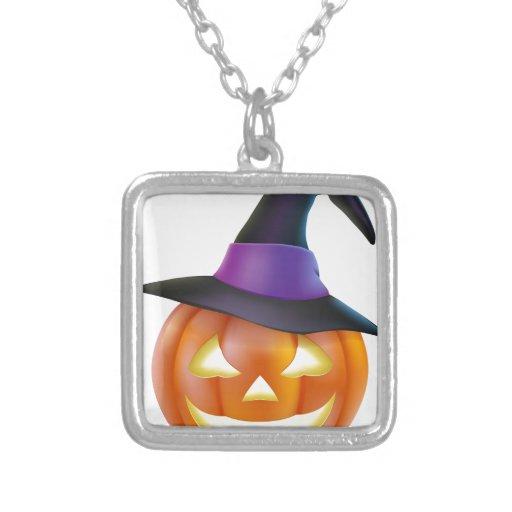 Calabaza de Halloween del gorra de la bruja Colgantes Personalizados