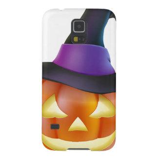 Calabaza de Halloween del gorra de la bruja Fundas Para Galaxy S5
