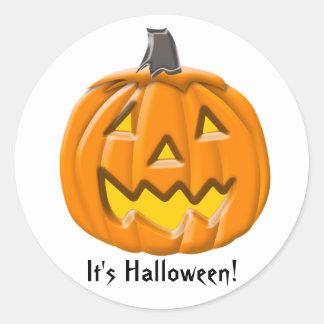 Calabaza de Halloween del truco o de la invitación Etiquetas