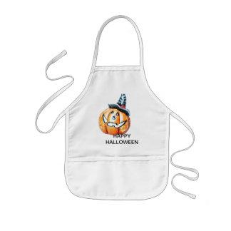 Calabaza de Halloween Delantal Infantil
