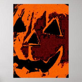 Calabaza de Halloween - estilo del grunge + sus Póster