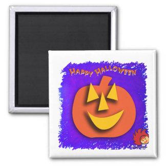 Calabaza de Halloween Imán Cuadrado