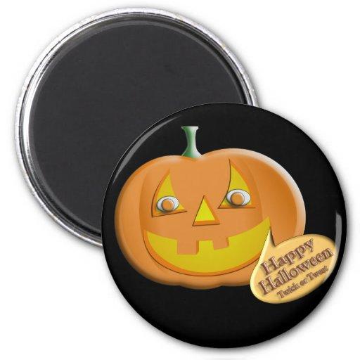 Calabaza de Halloween Imán De Nevera