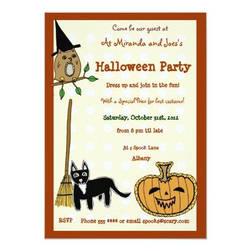 """Calabaza de Halloween Invitación 5"""" X 7"""""""