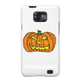 Calabaza de Halloween linterna de Jack-o Galaxy S2 Carcasa