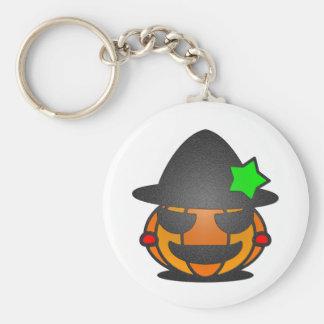 Calabaza de Halloween Llavero Redondo Tipo Pin