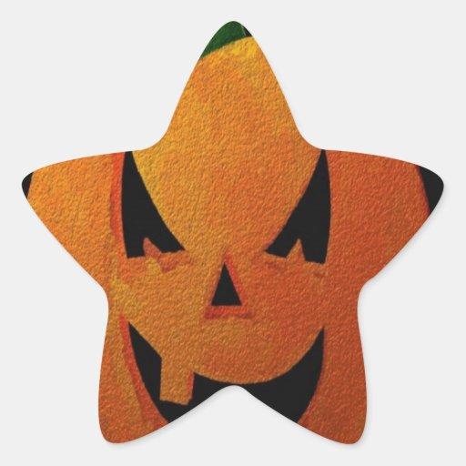 Calabaza de Halloween Pegatina En Forma De Estrella