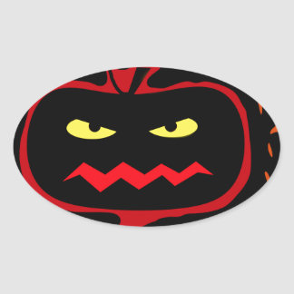 Calabaza de Halloween Pegatina Ovalada