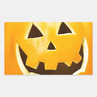 """""""Calabaza de Halloween """" Pegatina Rectangular"""