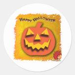 Calabaza de Halloween Pegatina Redonda