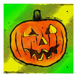 Calabaza de Halloween Perfect Poster
