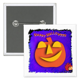 Calabaza de Halloween Pin Cuadrado