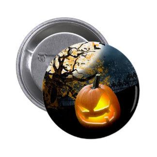 Calabaza de Halloween Pin Redondo De 2 Pulgadas