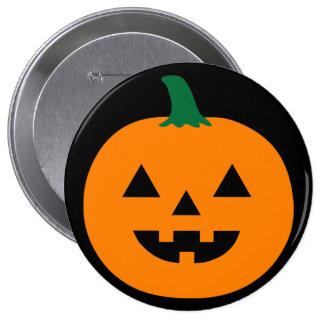 Calabaza de Halloween Pin Redondo De 4 Pulgadas